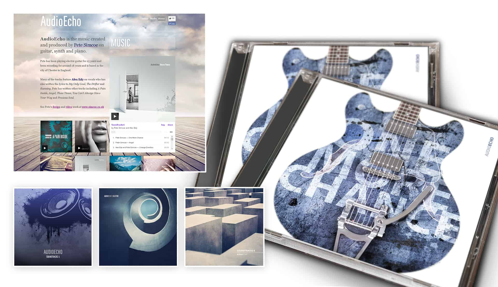 AudioEcho music artwork and website design