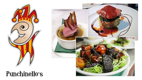 Punchinello's Restaurant Logo and Photography
