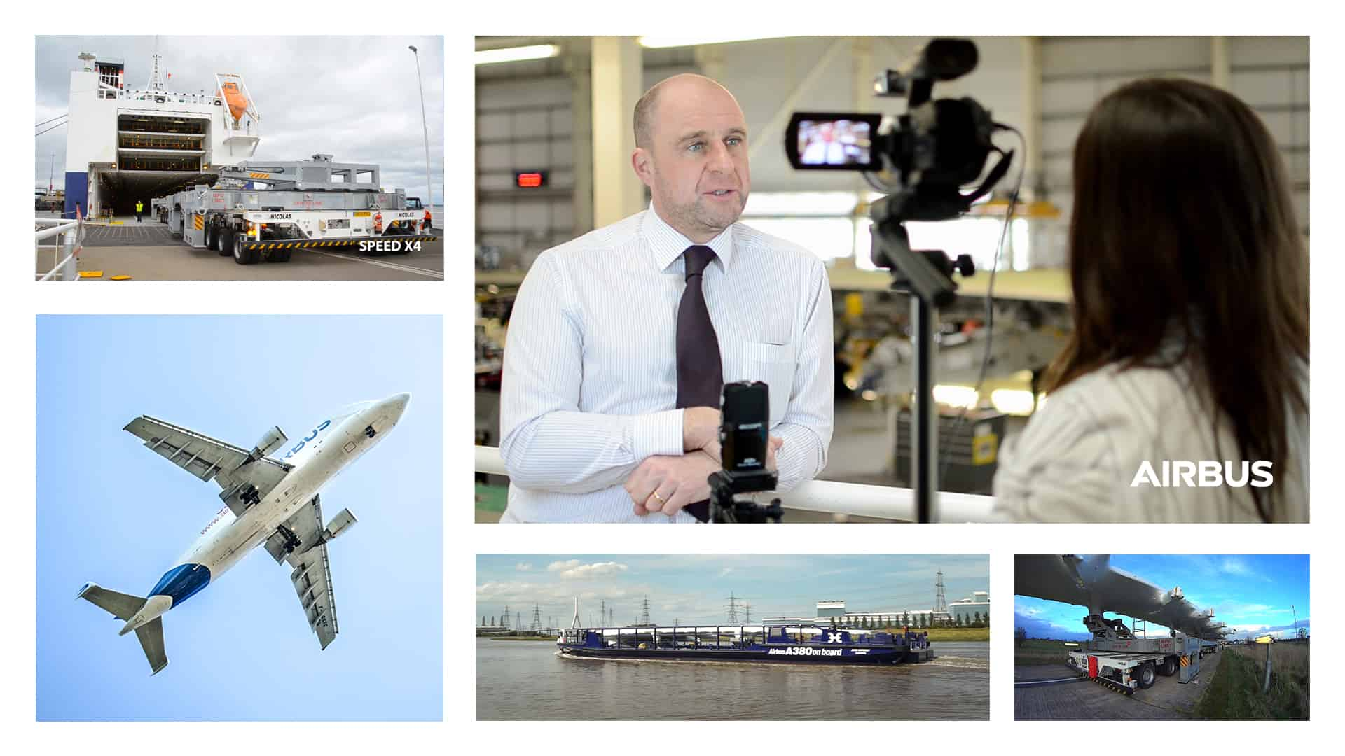 Airbus monthly communications, process videos and photography