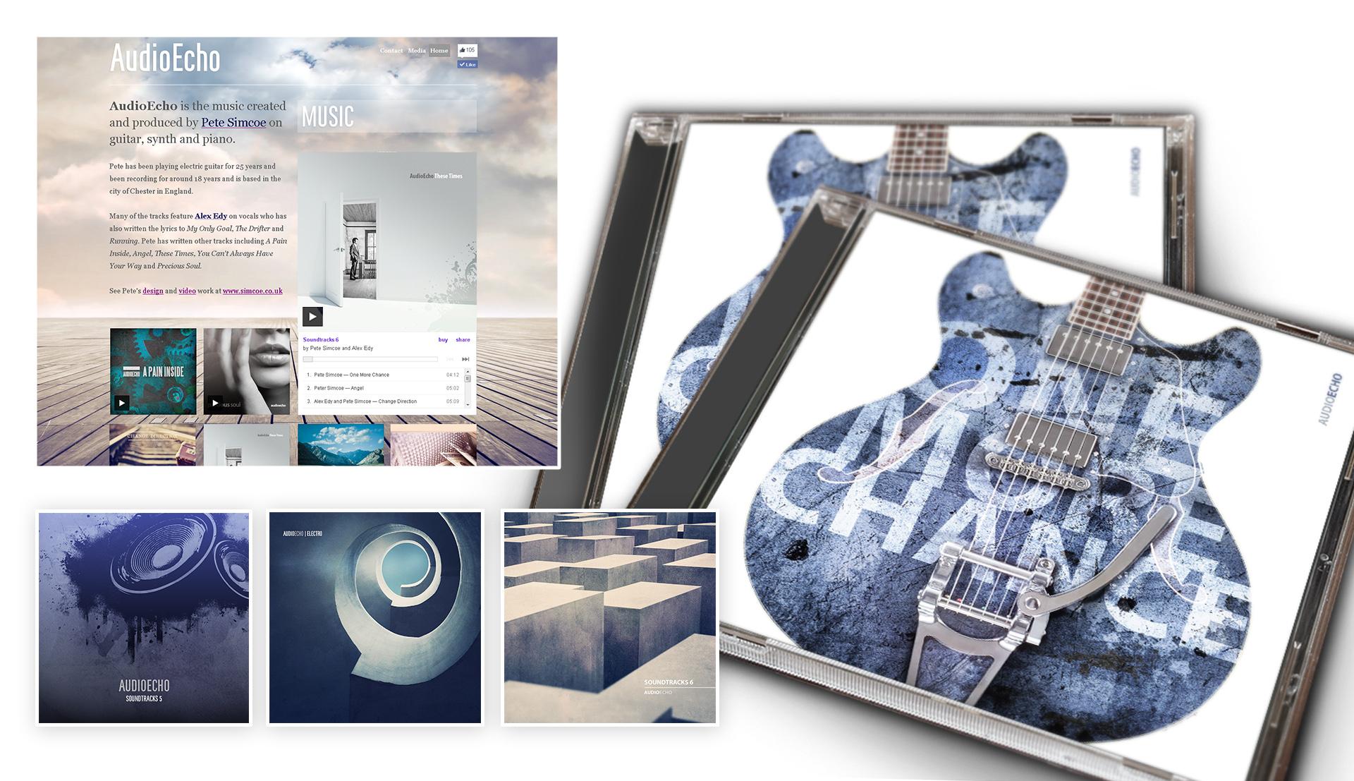 AudioEcho music artwork and website design