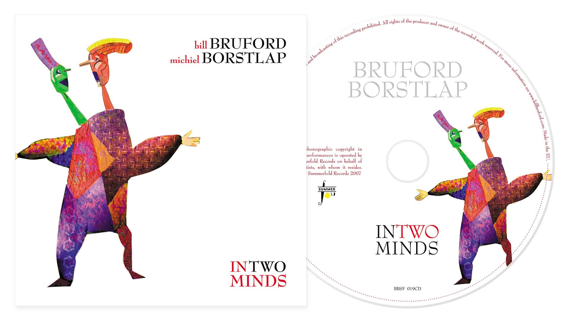 Bill Bruford and Michiel Borstlap album artwork for In Two Minds