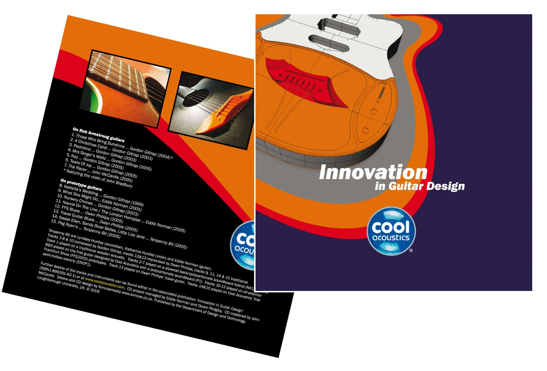 Cool Acoustics CD artwork design