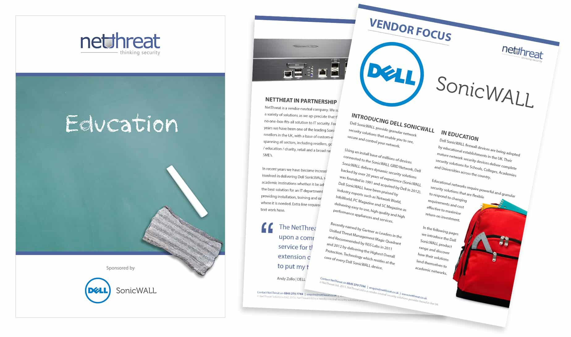 Dell promotional pack artwork design