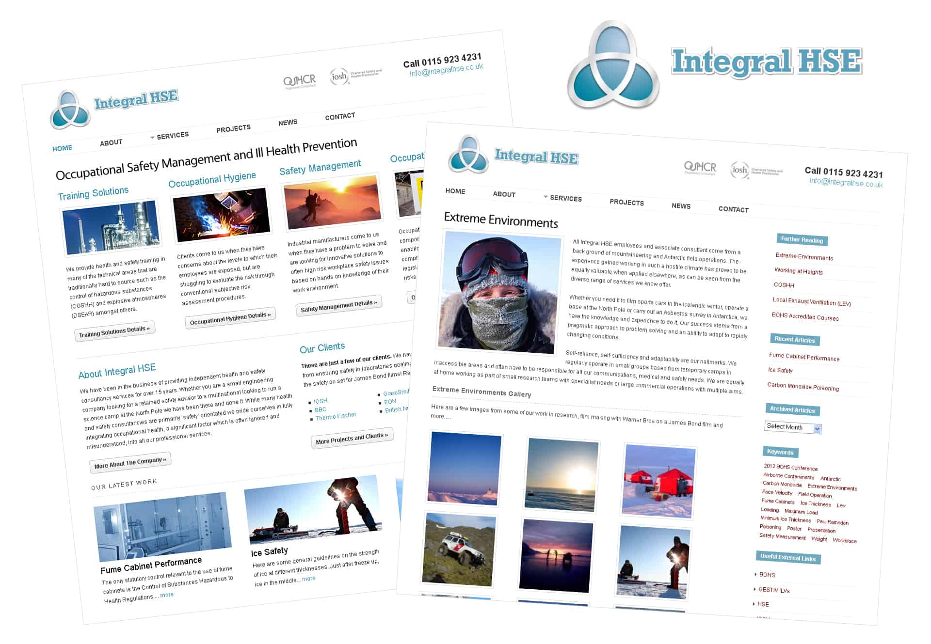 Integral HSE logo design and website production