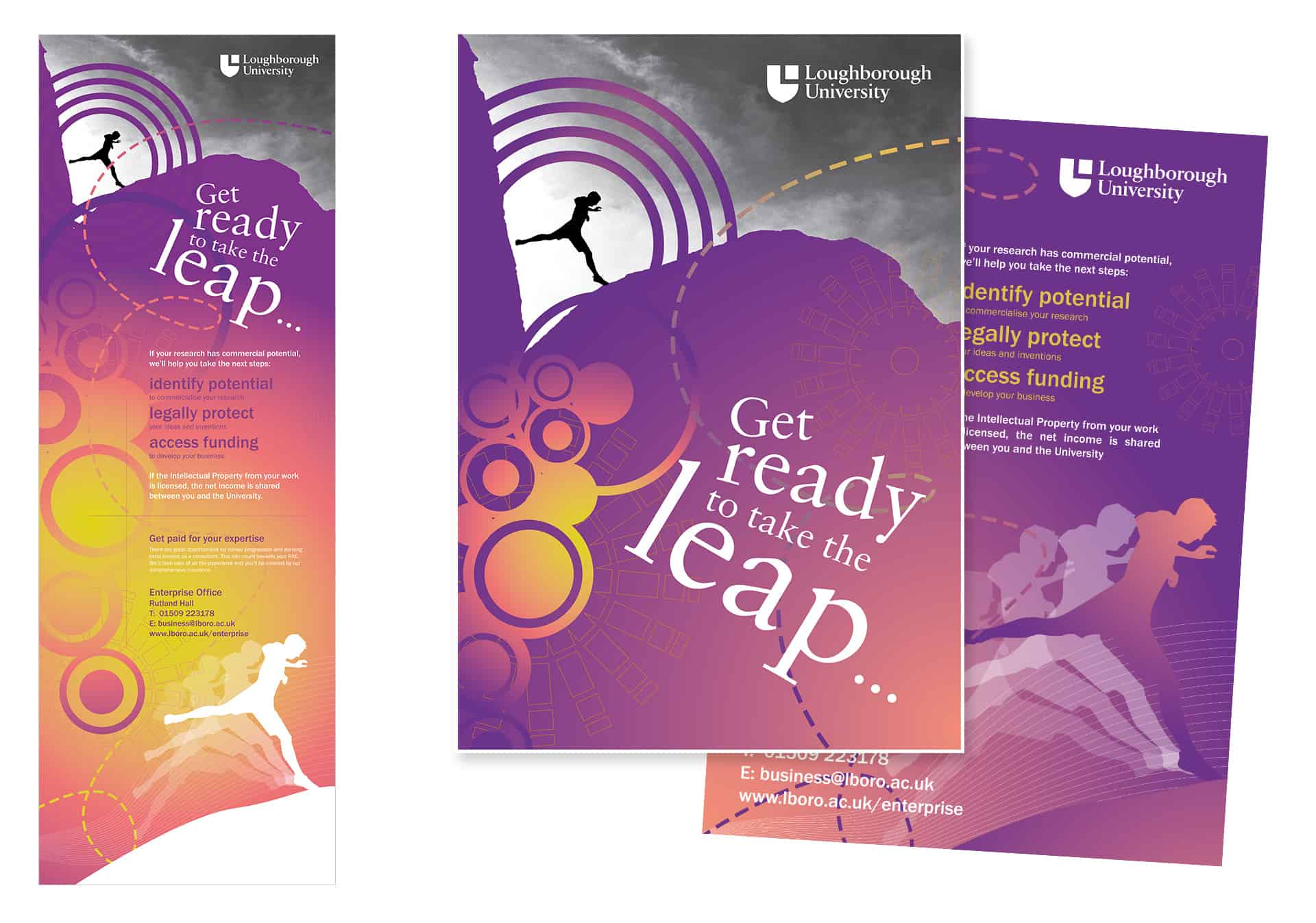 Loughborough University Enterprise Office banner design