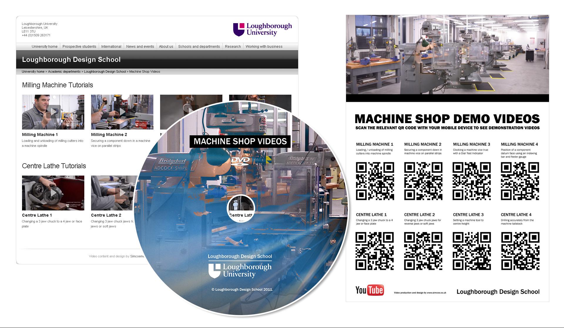 Loughborough Design School machine shop video and print material