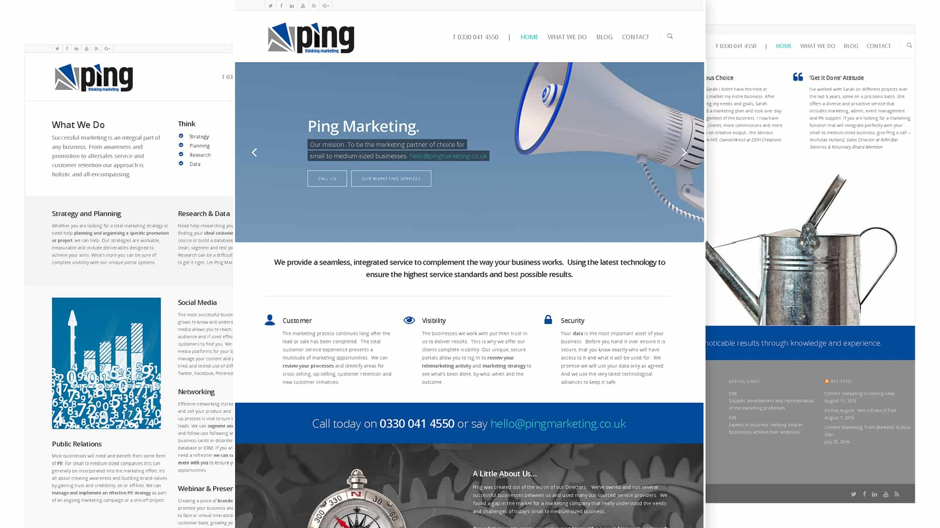 Ping Marketing Website Design and Production