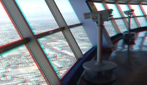 View from Stratosphere Tower in Las Vegas, USA