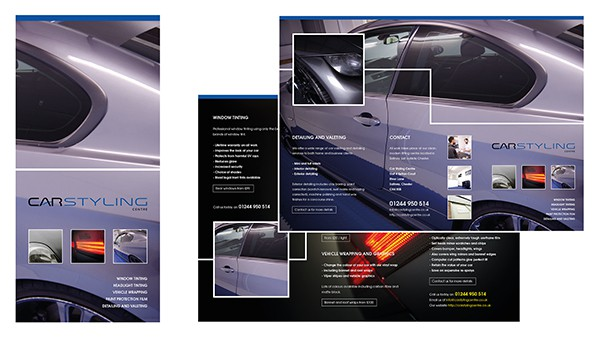 Car Styling Centre Leaflet Design