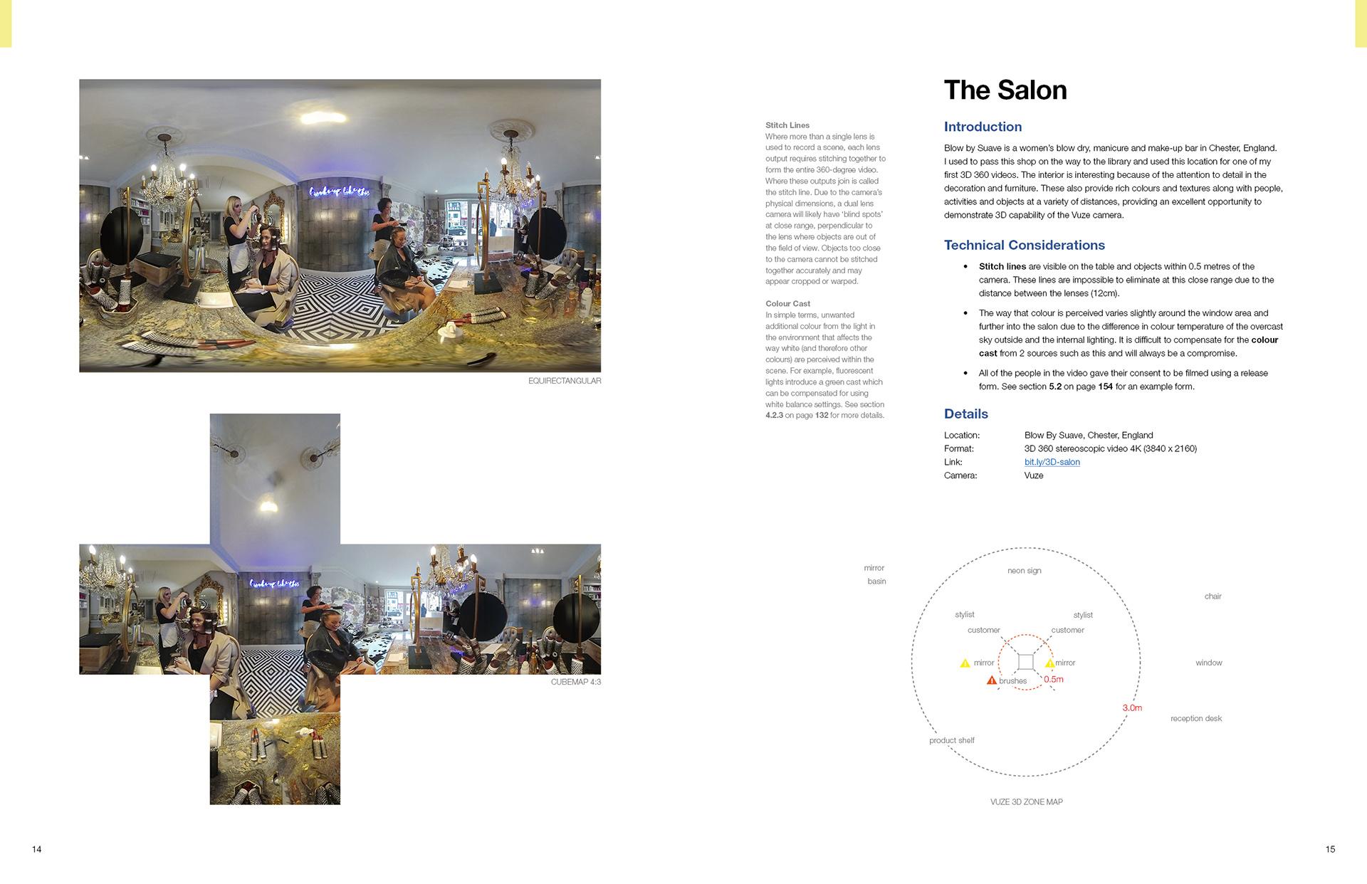 The Salon Page in 360 Video Handbook