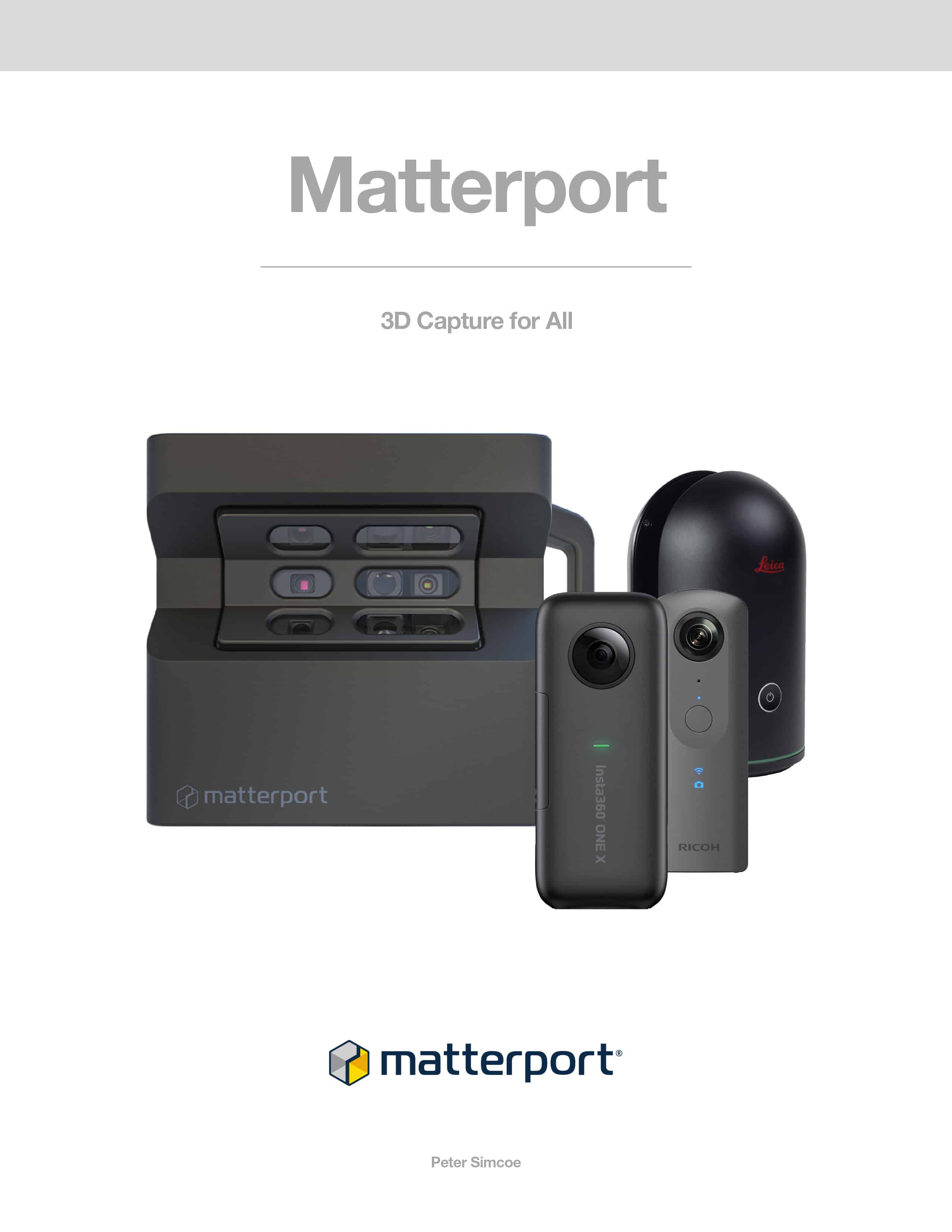 Matterport 3D Capture For All Book by Peter Simcoe
