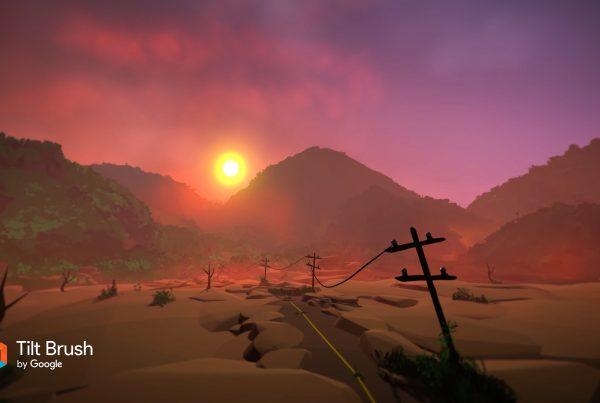 The Desert Tilt Brush Animation in 2D and 3D 360